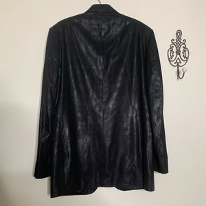 Kenneth Cole Suits & Blazers - NEW Kenneth Cole Black Faux Leather Sport Coat